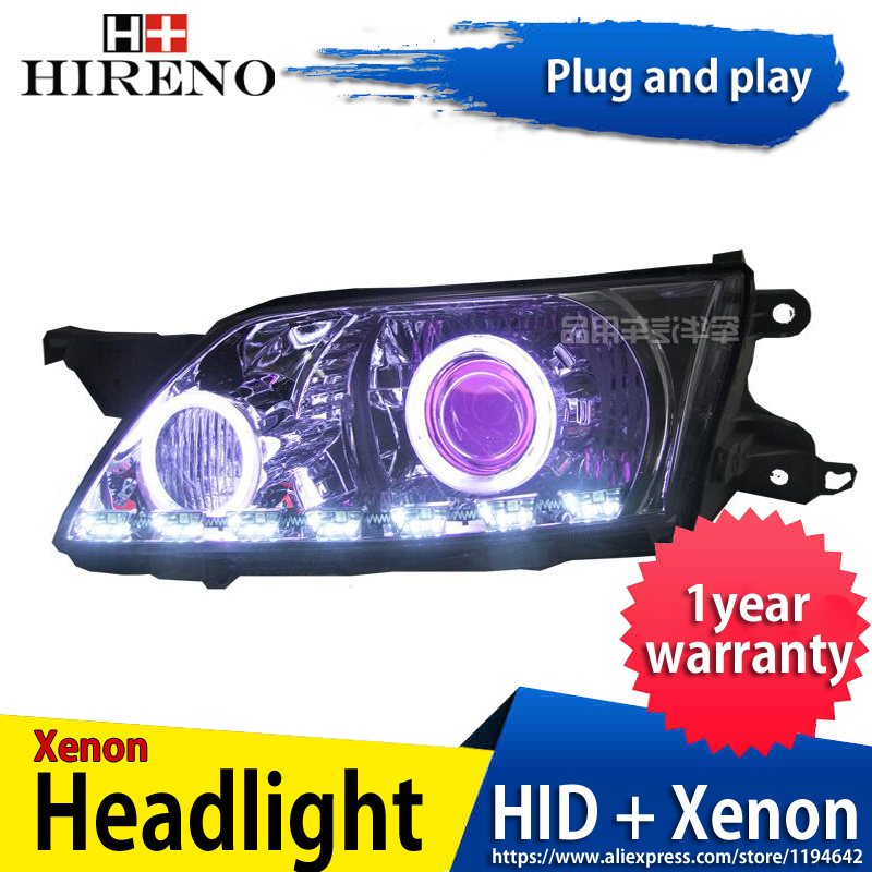 Car custom Modified Xenon Headlamp for Mazda 5 Premacy 2003-2008 Headlights Assembly Car styling Angel Lens HID 2pcs hireno headlamp for mercedes benz w163 ml320 ml280 ml350 ml430 headlight assembly led drl angel lens double beam hid xenon 2pcs