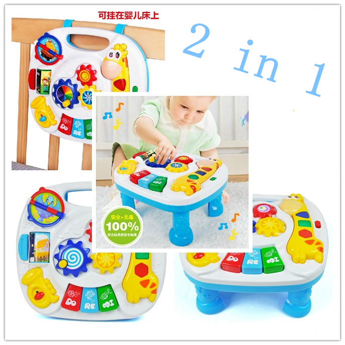 Crib Toys Learning : Free shipping musical baby crib attachment toy activity