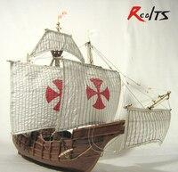 RealTS классические деревянные весы парусный корабль деревянная шкала лодка 1/50 Санта Мария весы сборки парусный спорт модель корабля наборы
