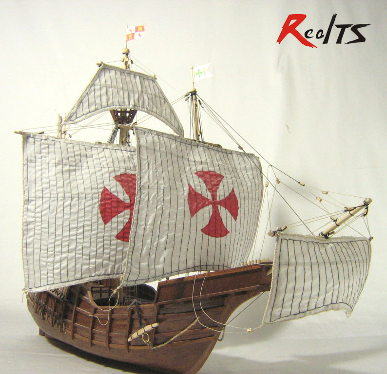 RealTS Classic wooden scale sailing ship wood scale boat 1/50 SANTA MARIA scale assembly sailing model ship kits цена