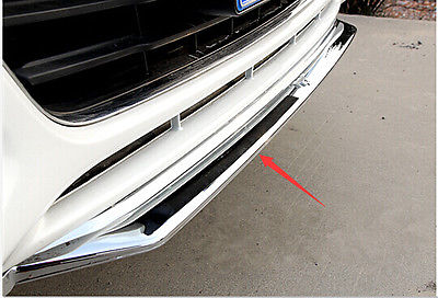 Chrome front bumper Lip cover trim with mustang logo for FORD FUSION 2013 2014 9pcs aluminium alloy dashboar console central air conditioner outlet vent cover trim for ford mustang 2015 2016 2017
