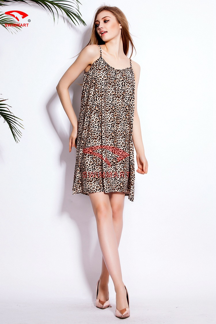 2015 EBAY Best Selling Loose Pattern Leopard Dress Women A Line ... 5d13406dc251