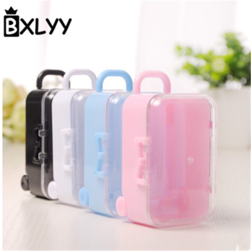 BXLYY Plastic Trolley Case Candy Box Small Items Storage Candy Box Wedding Supplies and Gifts DIY Party Supplies flower box. 7z