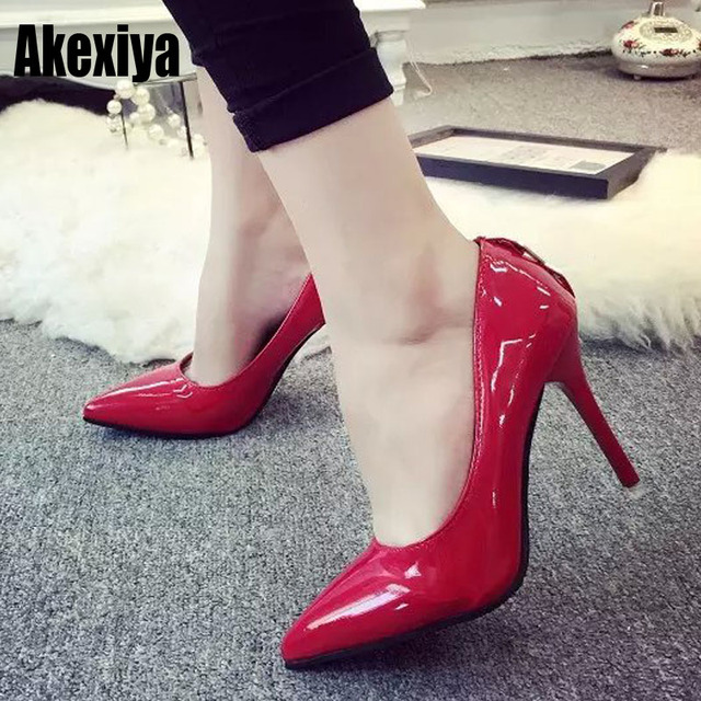5c999425e11 Hot fashion Women Shoes Light gray rose red pink black Non-slip Shallow Pointed  Toe High Heels Party shoes size 34-43 d537