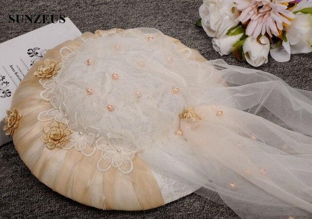 Новое Прибытие Люкс Свадебные Шляпы Старинные Кружева Элегантные Дамы Шляпы Veil Chapeu Para Casamento SQN022
