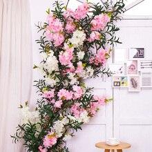 Шелковые цветы вишни для свадебного украшения, искусственные цветы сакуры, пластиковые растения, искусственные цветы, ветви, шелковые цветы