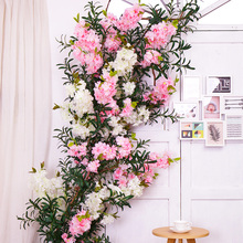 Silk Cherry Blossom Wedding Decoration Artificial flowers Sakura tree stem Plastic Plants Fake Flowers Branches Silk Flowers