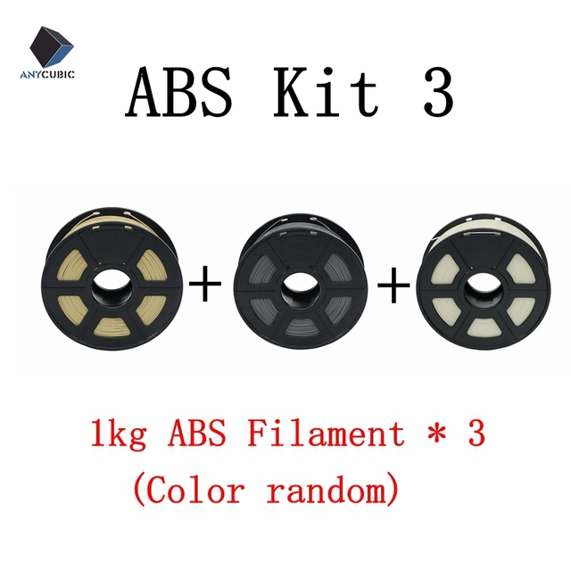 US $18 8 20% OFF|ANYCUBIC 3D printer ABS filament Kit 1 75mm 1kg Solid  Plastic Printing Rubber Consumables 3D Printing Material Color Optional -in  3D