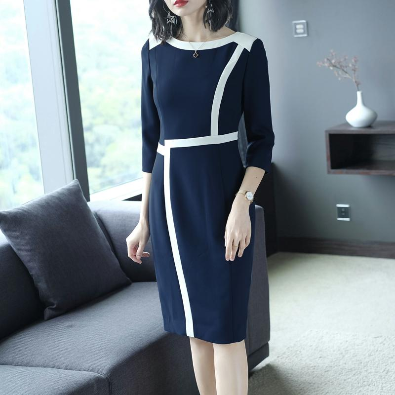 Autumn 2018 Dress Women Buttocks Professional Lady New Fashion Design Vogue Elegant Woman Vestido Outfit Dresses Party OL SALE