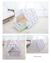 лучшая цена Four seasons dog house breathable cotton pet tent lace dog house mats on both sides can be easily cleaned