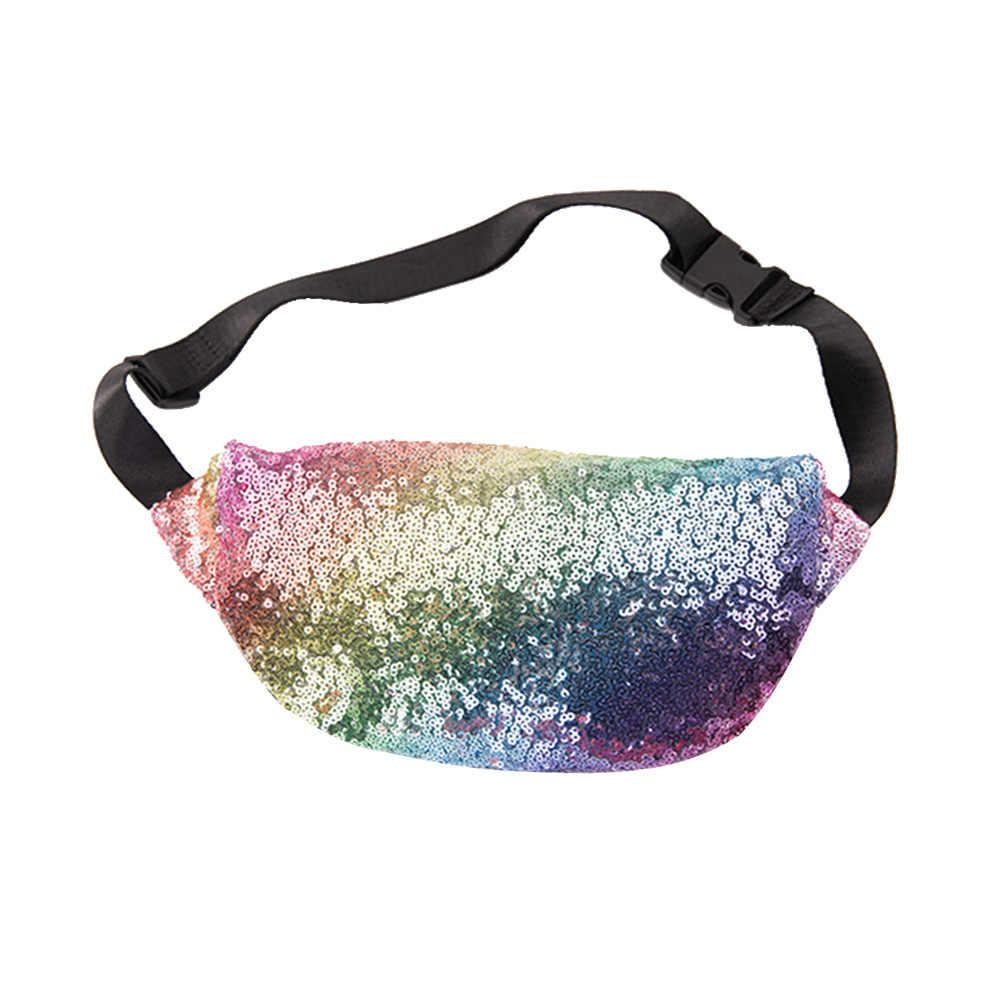 1 шт. поясная сумка, яркие городские сумки для бега, блестки, крутая спортивная сумка, многофункциональный карман для девушек и женщин