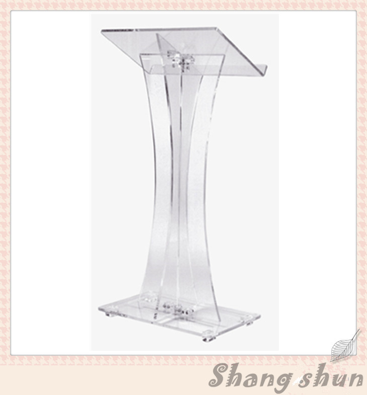 Cheap Organic Glass Lectern Podium Clear Acrylic Podium Pulpit Lectern Simple Church Pulpit Lectern