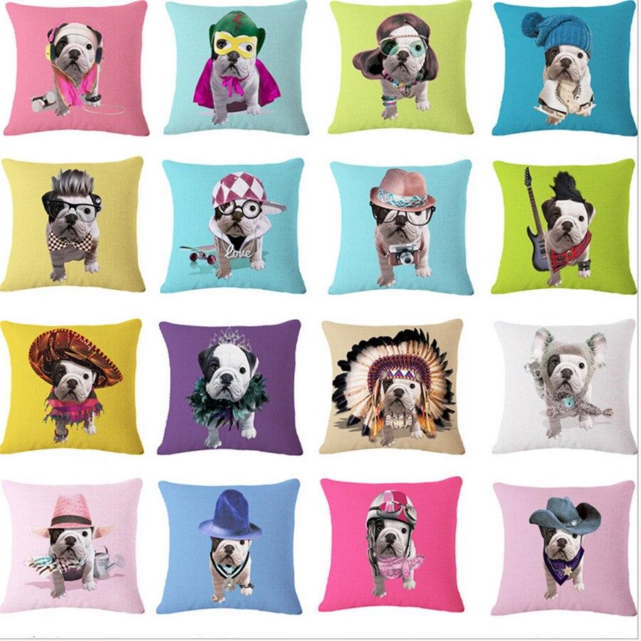 acd05165bcac ộ_ộ ༽Lindo bull terrier PUG perro animal decorativo Almohadas Tapas ...