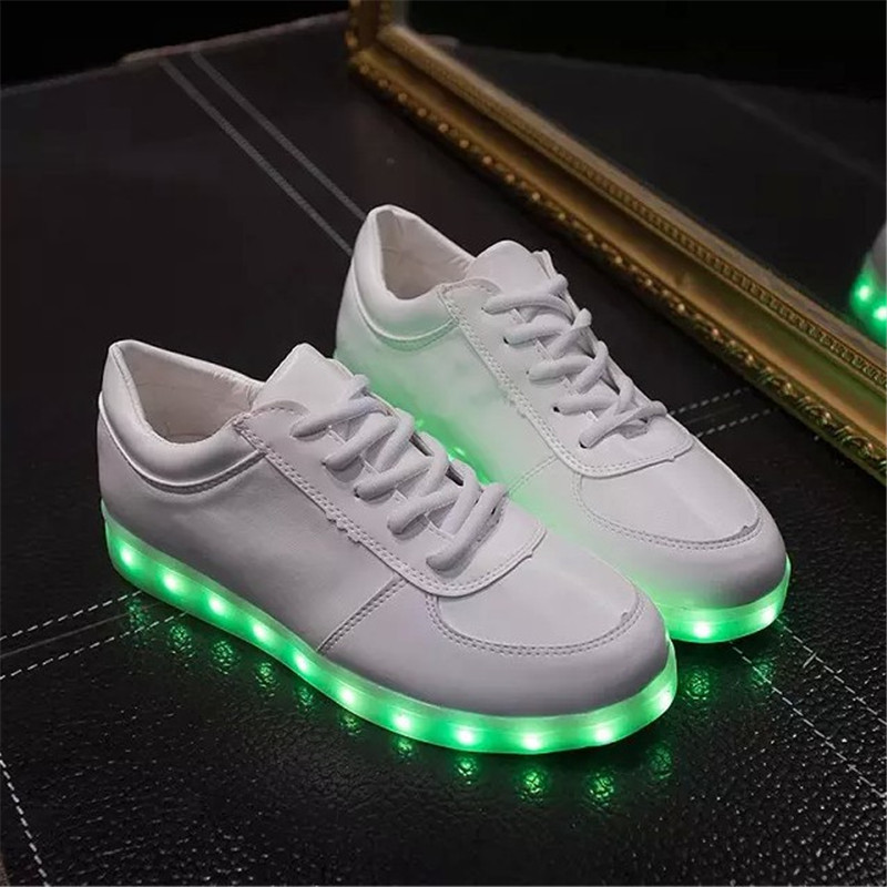 Aliexpress.com : Buy Hot Selling PU Leather Unisex Led Shoes 7 ...