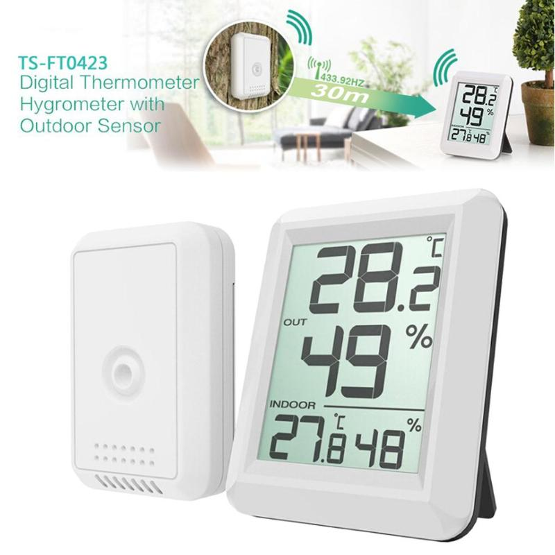 Digital Wireless Hygrometer LCD Thermometer Indoor Outdoor font b Electronic b font Temperature Humidity Monitor Weather