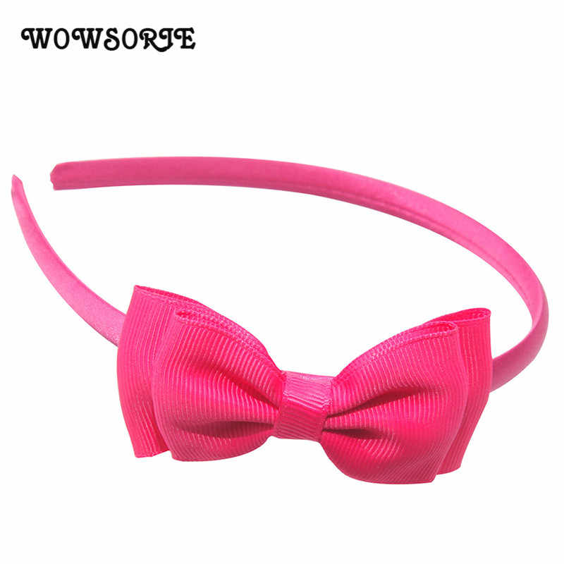 Cute Bowknot Hairbands 2018 New Solid Colors Sweet Hairband Children Hair Hoop Children Accessories Fashion Lovely Headwear