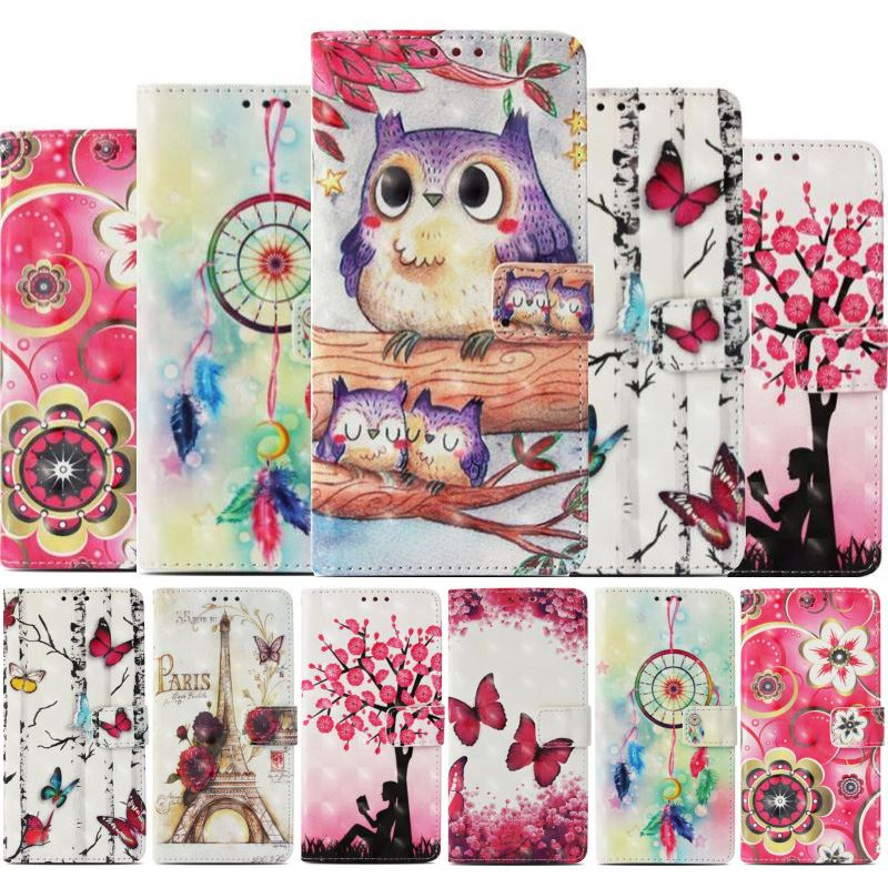 Luxury Case For Samsung <font><b>Galaxy</b></font> <font><b>S10E</b></font> S10 S9 S8 Plus Xcover4 G390F A3 A5 j3 j5 j7 2017 2016 Wallet Card Bit Cute Casual Etui P03E image