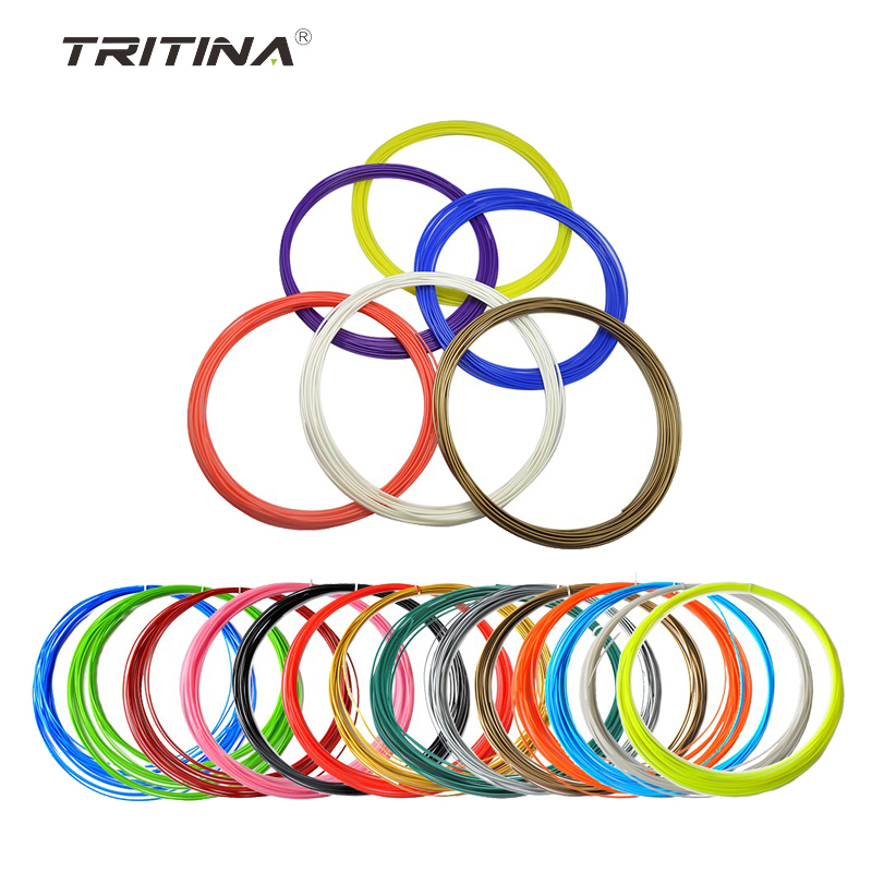 ФОТО Tritina 3D Filament 20 Colors*5meters For 3D Printing Pen ABS/PLA Option Creative Pen Printing Machine gift for children