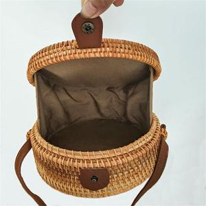 Image 5 - Rattan Storage Bag Handmade Bohemian Retro Style Home Woven Bag Hollow Twist Pattern Fashion Womens Pouch 2019