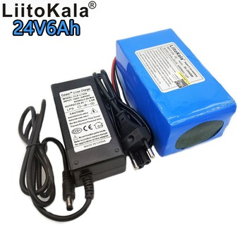 Liitokala 24V 6000mAh rechargeable lithium battery 7S3P 18650 29.4V 6Ah lithium ion bms battery pack LED light power supply 15A