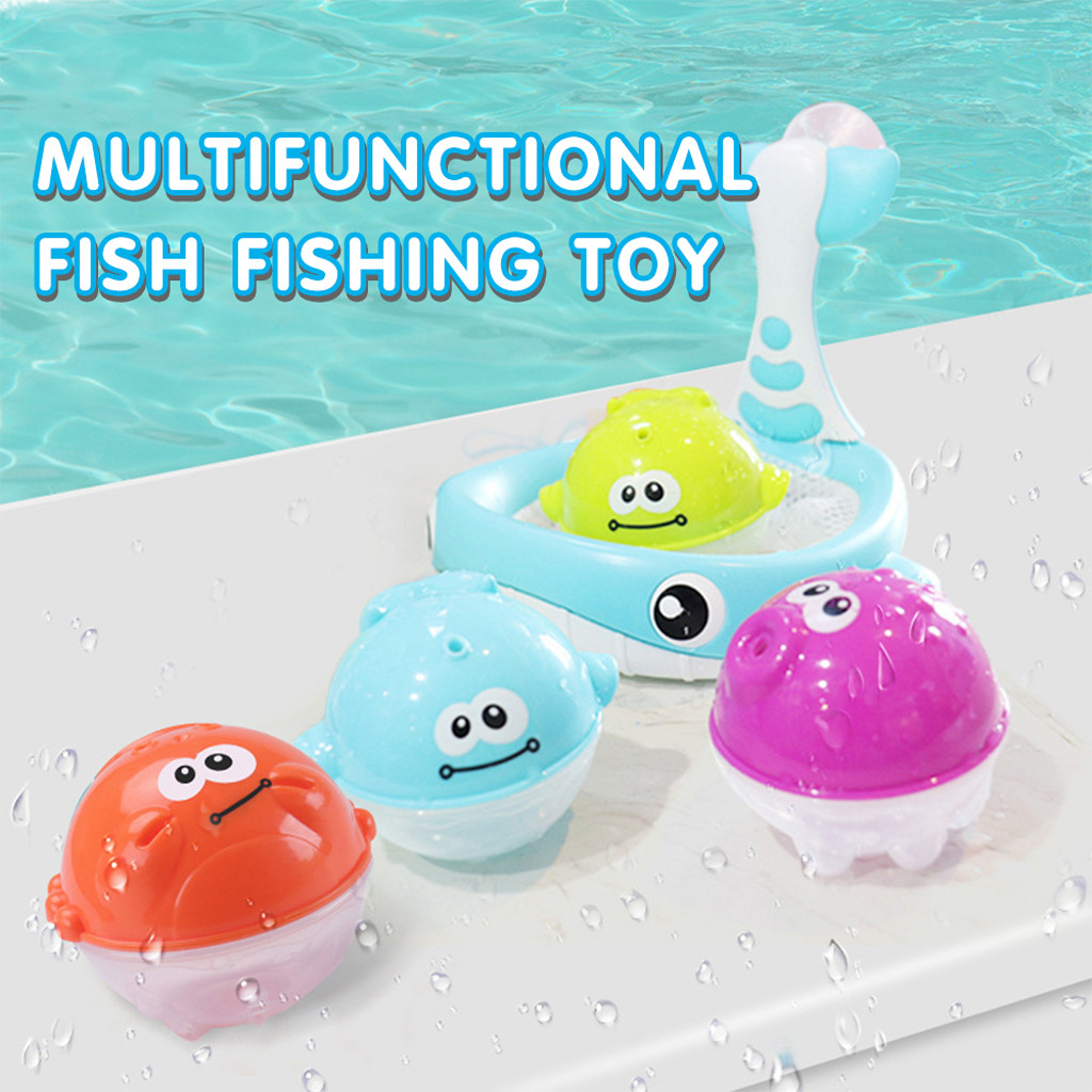 Cute Animals Swimming Water Toys Baby Bathing Floating Soft Rubber Animals Water Tub Toy Squirts Spoon-Net 1 Set A503