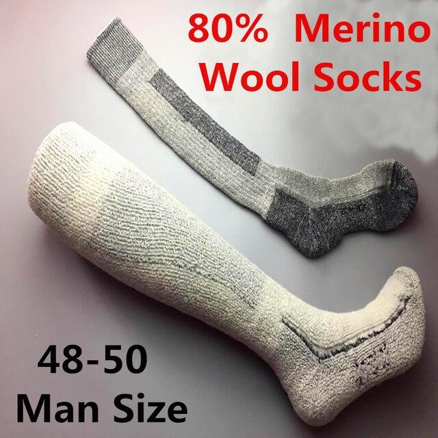 f51f47f84a2 US $29.99 |45 50 Plus Size mannen Merinowol Sokken Hoge Kwaliteit Super  Dikke Mannelijke Wollen Sokken Winter Hoge Buis sokken in 45-50 Plus Size  ...