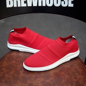 Image 3 - Krasovki erkek Nefes Slipony Sapato Erkek Ayakkabı Yetişkin Örgü Tenis rahat ayakkabılar Chaussures Hommes Zapatos Hombre Herenschoenen