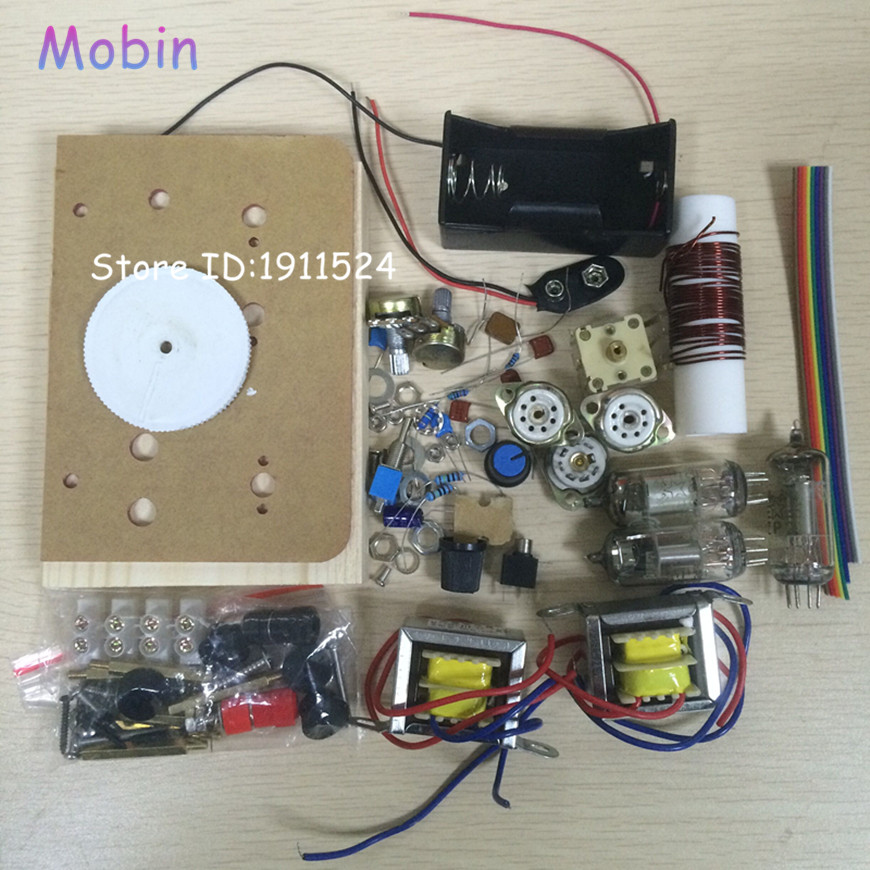 Prix pour 1 PCS/LOT Régénératrice DC trois lampe tube à ondes courtes radio kit CW SSB récepteur batterie-alimenté à ondes courtes Livraison gratuite