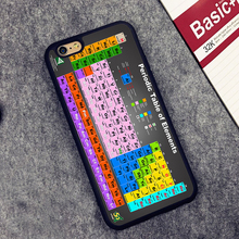 Chemical Chemistry College Periodic Tables Soft TPU Shell Skin Phone Case For iPhone 6 6S Plus 7 7 Plus 5 5S 5C SE 4 4S Cover
