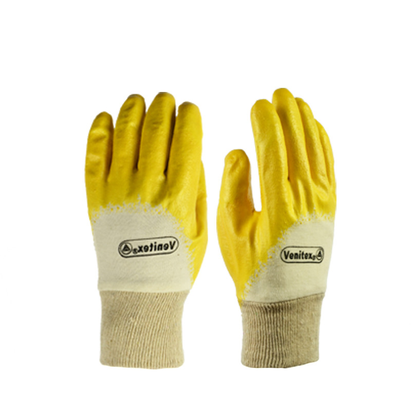 New Breathable Knitted Gloves Nitrile coating Labor Gloves Anti-cut Soft Lining Working Protective Gloves cut resistant retardant gloves nitrile rubber spandex lining gloves yellow size l xl top quality gm1140