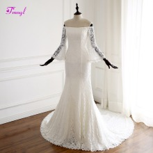 fsuzwel Fmogl Romantic Flare Sleeve Mermaid Wedding Dresses