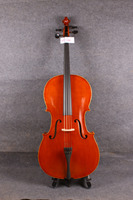 4 4 Cello Solid Wood Flame Maple Spruce Ebony Parts Bow Rosin Bag Handmade DT 601