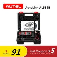 Autel AutoLink AL539B OBD2 Scanner Automotive Tester Code reader Car Diagnostic tool for Electrical battery test PK Al539