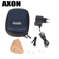 Axon Mini Invisible Sound Amplifier Ear Aid Adjustable Tone Axon K-88 Rechargeable Hearing Aids In-ear for Elderly Hearing loss