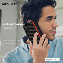 For Xiaomi Mi9 Mi 9 Leather Back Case Vpower Luxury Splice Carbon Fiber PU Cases for Phone Covers