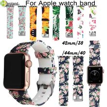 Sport watch strap For Apple watch 3 2 1 4 Iwatch band 42mm 38mm 44mm 40mm Natural silicone bracelet wrist belt rubber watchband