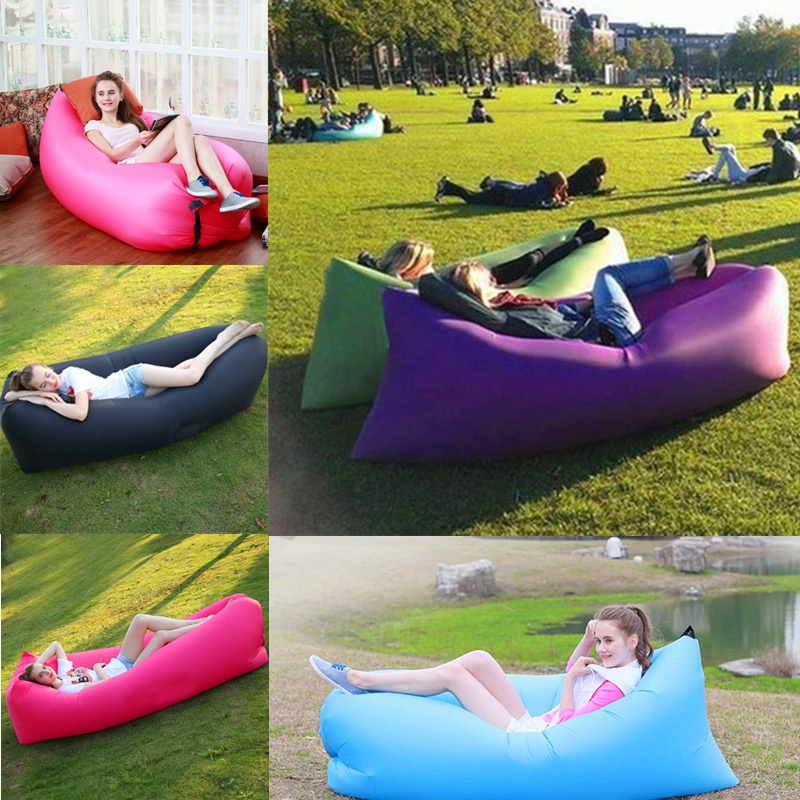 Fast Inflatable Sleeping Bed Lazy Sofa Air Bag For Outdoor Beach Sports Camping Hiking folding air bag sofa portable inflatable sofa lazy sofa outdoor beach easy use fashion swim bed toy camping travel supply gift