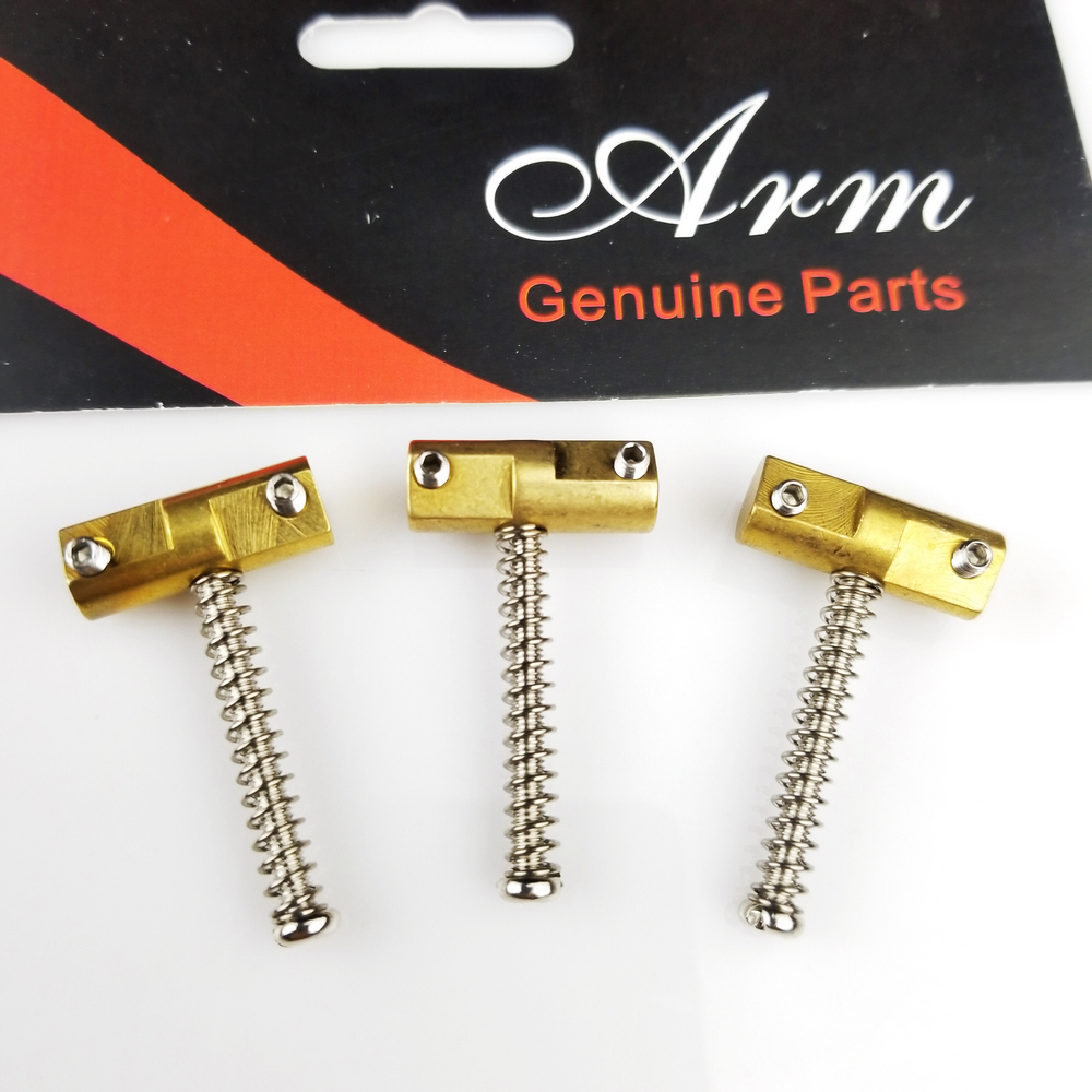 A Set OF Three Wilkinson Electric Guitar Brass Guitar Bridge Compensated Saddles For TL Tele Replacement Part