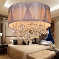 Wholesale Modern Bedroom ceiling Lighting 36w led Fabric Creative Electrodeless Dimming Cloth Ceiling Lamps AC90 265v A228