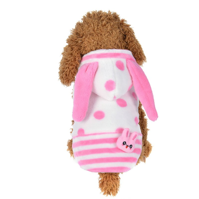 Dog Clothing Puppy Dog Hoodie Winter Clothes Sweater Costumes Dog Coats Jackets Hooded Cute Dot