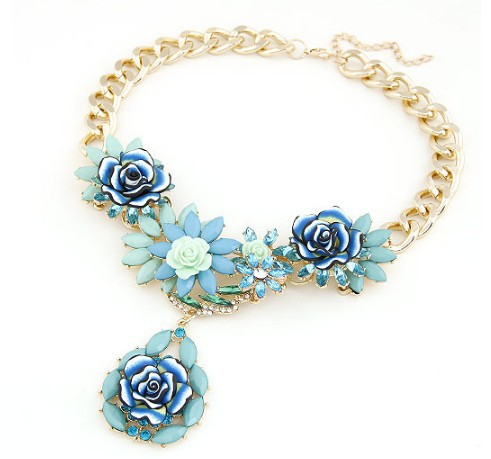Dependable F&u Newest Gorgeous Brand Necklace Fashion Jewelry Brunet Department Statement Necklace Women Choker Crystal Necklaces&pendants And Digestion Helping