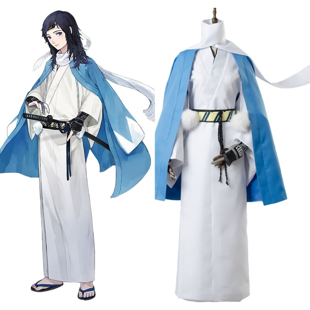 yamatonokami yasusada cosplay Touken Ranbu Costume Full Sets Uniform Blue Color Halloween Carnival Costume
