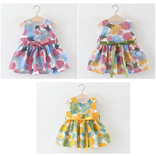 1-3Y Baby Girl Dress Cotton Print Watercolor Hand-Painted Sen Baby Girls Two Styles Dress Summer New Fashion Ropa Bebe Dress new 2017 ropa bebe branded summer quality 100