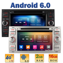 7″ Quad Core 2GB RAM 4G LTE SIM WIFI Android 6.0 Car DVD Player Radio Stereo For Ford Mondeo Focus Transit C-MAX With GPS AUX BT
