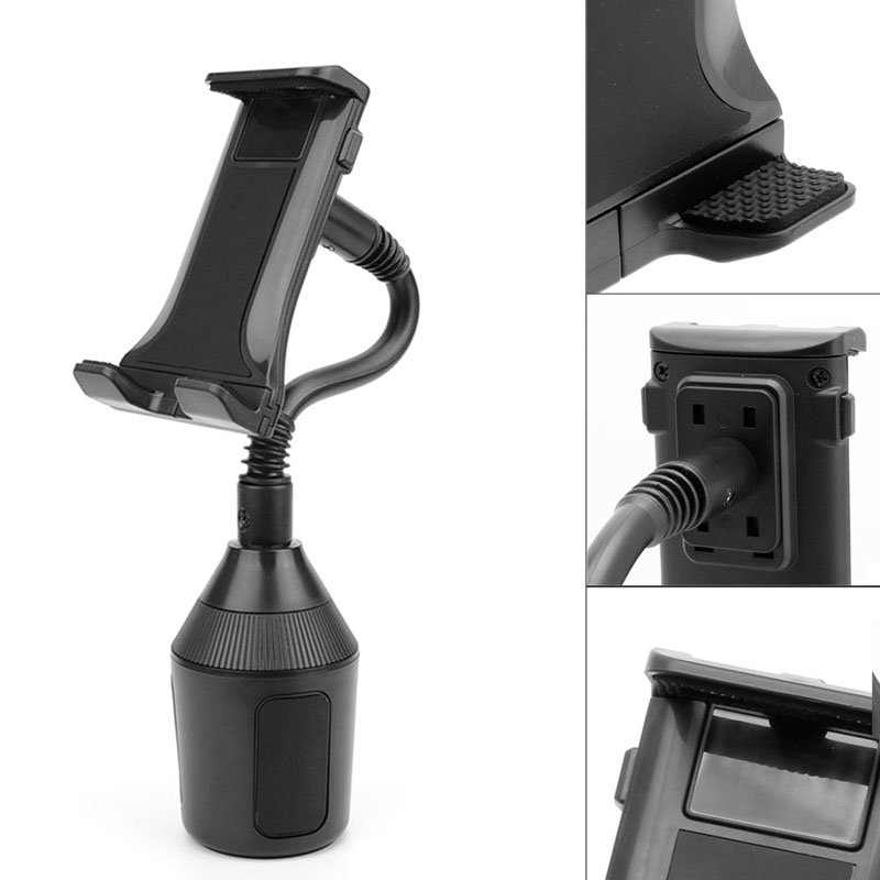 Holder For Apple iPad Samsung Galaxy 7-10 Tablet Adjustable Car Cup Holder Mount Mini