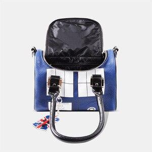 Image 5 - Mysterious Dr. handbag Doctor Who Bag TARDIS Mini Satchel and Metal Charm Keychain Shoulder bag Lady Messenger bag