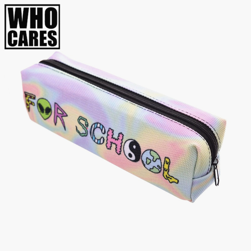 Too cool for school 3D Printing Cosmetic Cases Women pochette maquillage make up bag 2016 Fashion
