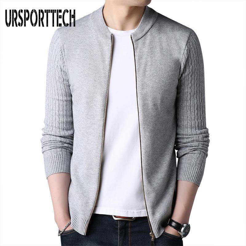 2019 Spring Autumn Men's Sweaters Coat Zipper Pullover Sweater Jackets Men Casual Knitwear Thin Coat Plus Size M-XXXL