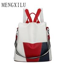 купить High Quality PU Leather Anti-thief Women Backpack Large Capacity New Fashion School Bags for Teenager Girls Travel Bags Mochila по цене 1253.3 рублей