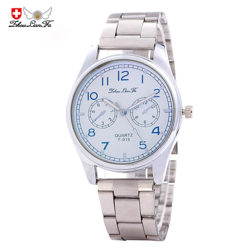 2018 new Slim Korean version of the Symphony of Blu-ray Swiss watch classic personality men's quartz watch F-015 steel watches 3d blu ray плеер panasonic dmp bdt460ee